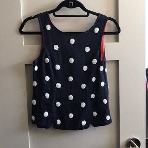 Anthropologie polka dot beaded top